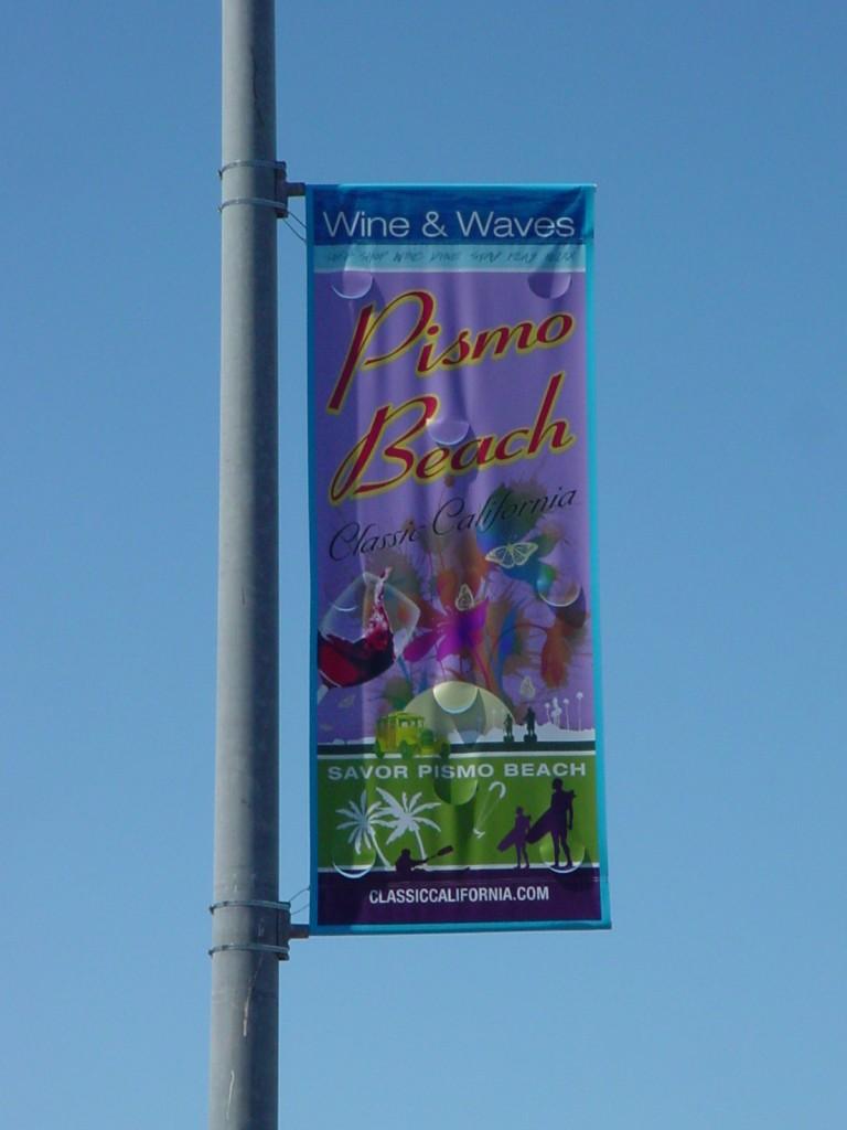 Pismo Beach Pole Banner Flag