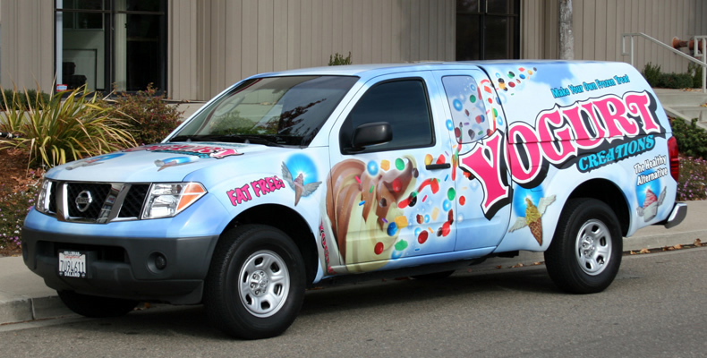 Yogurt Creations Truck Wrap