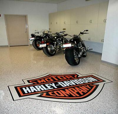 Harley Davidson Floor Graphic