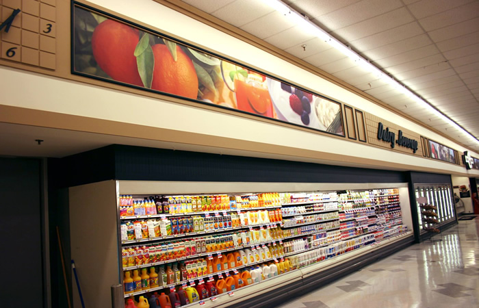 Grocery Store Wall Wrap Display