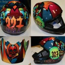 Custom Motorcycle Helmet Graphics