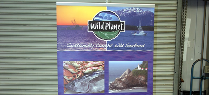 Wild Planet Trade Show Booth Banner Stand