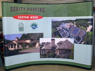 Dority Roofing Popup Tradeshow Booth