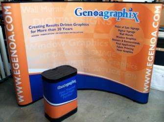 eGenoa Pop Up Trade Show Booth