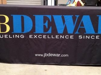 JB Dewar Table Cloth Display