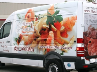 Mama's Meatball Delivery Van Graphics Wrap