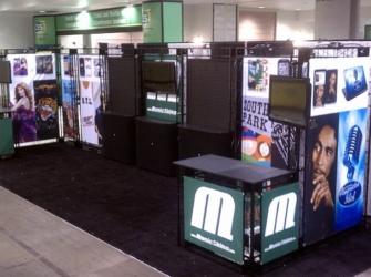 Music Skins Trade Show Display