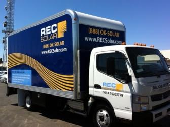 REC Solar Graphical Truck Wrap