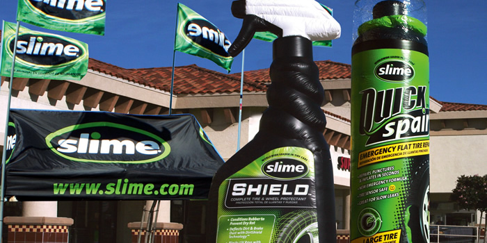 Slime Tire Care Inflatable Outdoor Display