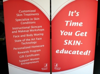 The Skin Stop Trade Show Banner