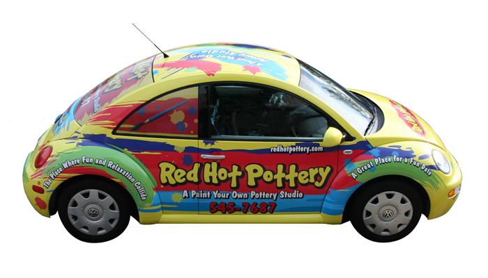 eGenoa Vehicle Wrap on a Volkswagen Beetle