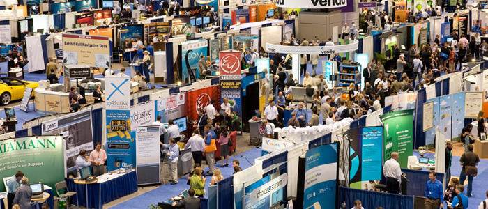 Busy Trade Show Floor