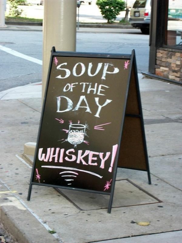 Funny Sidewalk Sign For A Bar
