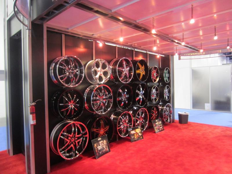 Custom Wheel Trade Show Truss Display