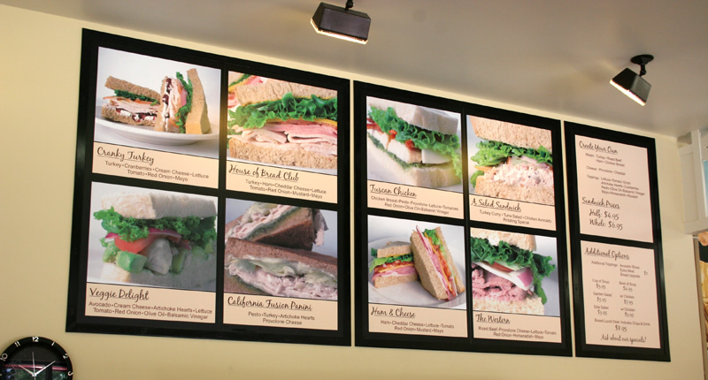 House of Bread Sandwich Menu Board