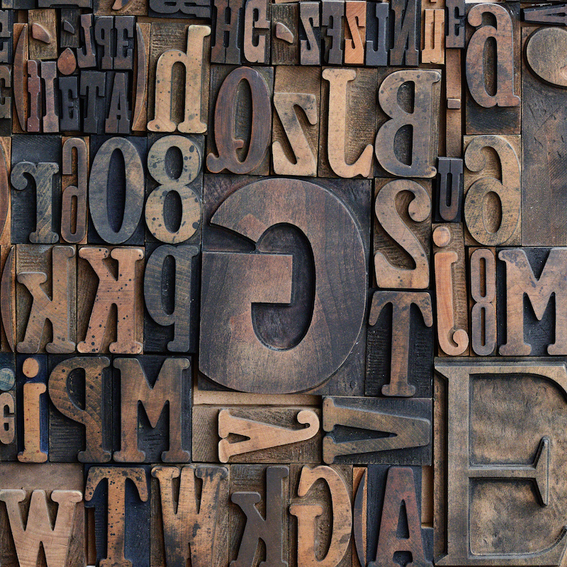 Wooden printers typeface
