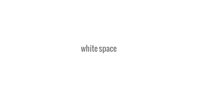 White Space: Not Always White, but Always Good for Graphics