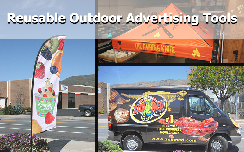 reusable outdoor advertising tools